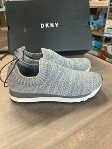NEW Women's DKNY Jerri Slip On Knit Casual Gray Sneakers Pick Size