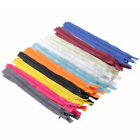 20pcs Assorted Color Nylon 9Inch Coil Zippers Tailor Craft Invisible Sewing USA