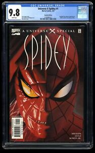 Universe X Spidey #1 CGC NM/M 9.8 White Pages Recalled Edition!
