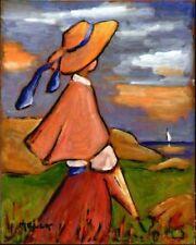 Peintures du XXe siècle et contemporaines huiles sur panneau en scène de genre
