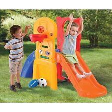 Red Blue All-Star Sports Climber Slide Sports Games Outdoor Play Toddlers Balls