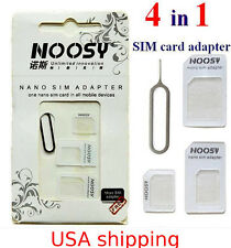 Wholesale Lot 100 Noosy Nano Micro Sim Card Adapter for iPhone 5, 6, 7 Samsung