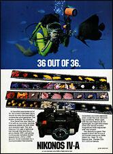 1981 Scuba Diver Nikonos IV-A underwater camera vintage photo print ad ads61