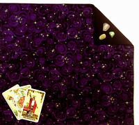 "Purple Stargazer Tarot or Altar Cloth 18"" x 20"" Fully Lined SPClo"