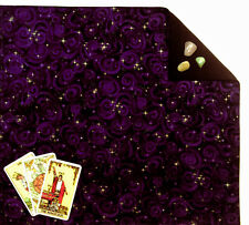 "Purple Stars Lined Tarot Cloth or Altar Cloth 18"" x 20"""