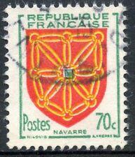 STAMP / TIMBRE FRANCE OBLITERE N° 1000 BLASON NAVARRE