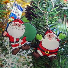 2 x  Ornements Noël Suspendu Mini Père Noël Porte-clés Couronne Décoration Sapin