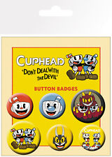 Cuphead Mix Gaming 6 Pin Assorted Badges Badge Pack