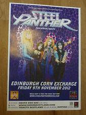 Steel Panther - Edinburgh nov.2012 concert tour gig poster