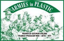 Armies in Plastic - Franco-Prussian War Mounted German Uhlans 54mm 1/32 Green