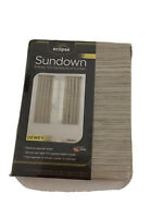 SUNDOWN ENERGY SAVING BLACKOUT CURTAIN Marble Color Two Panels NEW