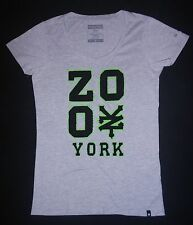 ZOO YORK - Damen T-Shirt - Girly - grau mit Aufnähung in neon-grün  Gr. S - TOP