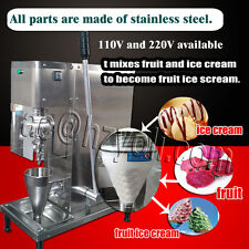 Ce,Dhl shipping,fruit ice cream mixing machine yogurt blender with free cone cup