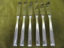 6 couteaux à dessert metal argenté design 1960 (dessert knives) OL