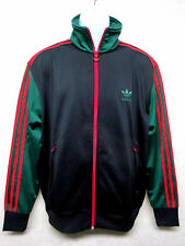 ADIDAS Originals - Men's Track Top Jacket - Black with Red and Green - Size L