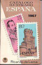 1967 Catalogo Ilustrado sellos España - Ricardo de Lama -CURIOSIDAD