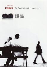 Prospekt 2009 d Canon EOS 500d 1000d folleto cámaras brochure cameras Japón