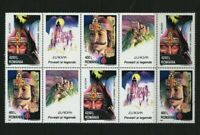 Dracula! Vlad the Impaler mnh block 6 stamps + labels 1997 Romania #4158a Europa