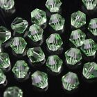 50pcs 6mm Bicone Faceted Crystal Glass Charms Loose Spacer Beads Light Green