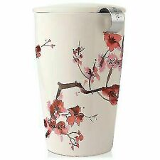 Tea Forté 3910255 Kati Ceramic Tea Infuser Cup - Cherry Blossoms