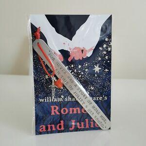 HANDMADE BOOKMARK HAND STAMPED ROMEO & JULIET STORY OF WOE ROMANCE LOVE GIFT