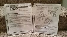 CREEPY CRAWLERS creator pak MINI DRAGONS  BY TOYMAX INSTRUCTIONS Manual