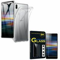 "Coque Silicone Gel UltraSlim Sony Xperia L3 5.7"" I3312 I4312 avec Verre Trempé"