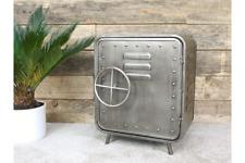 Industrial Urban Style Bedroom Bedside Table | Metal Safe-Like Design