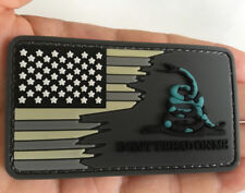 DONT TREAD ON ME American USA flag Rubber Tactical Morale Hook PVC Patch Badge