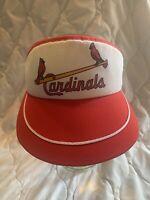 vtg 70s 80s ANNCO mint Unworn St. Louis Cardinals SnapBack Visor Hat Cap OSFA