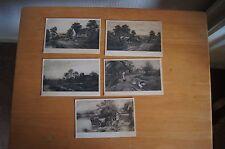 5 Vintage Postcards C W Faulkner & Co Series 407 Near shere Dorsetshire Village