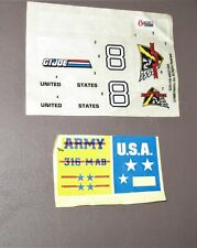 Vintage 1988 Hasbro G.I. Joe Decals & Other Military Decal