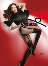 """NEW MOCK SUSPENDER STOCKINGS-TIGHTS-GATTA """" JAZZ 01"""" 40/20 DENIER"""