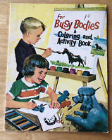 VINTAGE 1960's LANDOLL FOR BUSY BODIES A COLORING AND ACTIVITY BOOK #957 16 PAGE