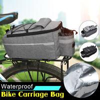 Cycling Bicycle Bike Rear Rack Bag Tail Seat Pannier Trunk Shoulder Pack Waterpr