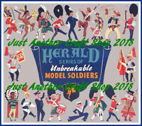 Britains Herald Model Soldiers 1954 Poster Advert Leaflet Shop Display Sign