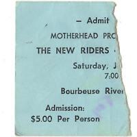 NRPS Concert Ticket Stub SULLIVAN MO 7/21/79 BOURBEUSE RIVER GRATEFUL DEAD Rare