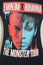 Eminem X Rihanna The Monster Tour 2014 S Graphic T Shirt Black Short Sleeve Rap