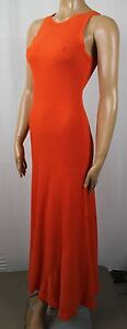Polo Ralph Lauren Full Length Sleeveless Orange Dress NWT $125