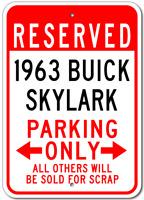 1963 63 BUICK SKYLARK Parking Sign