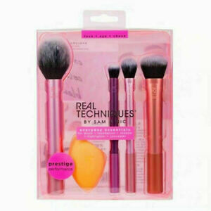 New Real Techniques Makeup Brushes Set Foundation Smooth Blender Sponges Puff AU