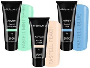 Poly Acryl Gel Pastell Set UV Gel AcrylSystem Primer Liquid Pinsel Light NailArt