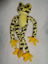 Frog Yellow Black Spots Long Legged Poison Arrow Frog Suction Cups Plush Fiesta