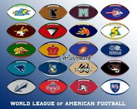 WLAF NFL Europe Team Logo's Color  8 X 10 Photo Picture Reprint
