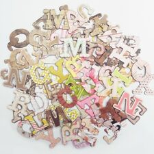 84 x Mixed Chipboard Alphabet Letter Embellishments Card Making Toppers Vintage