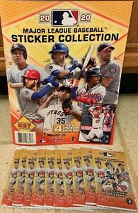 2020 TOPPS MLB STICKERS WITH ALBUM 10 PACKS WITH 4 STICKERS PER PACK NEW 👀⚾