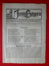 alte Zeitschrift JUNG Bayern Nr. 14 - 17  vom 11. April 1919 ( 8054