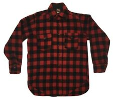 Woolrich Mens 40s 50s Button Front Shirt Thick Buffalo Plaid Vintage Mackinaw