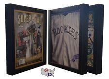 Lot Of 3 Sports Program Display Frame Magazine Black Standard Size Over 5 Deep