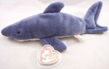 MWT Ty Beanie Baby Crunch the Shark (Style 4130) with Tag Cover, 1996